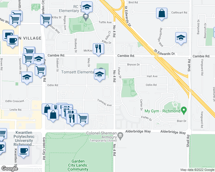 Map Of Restaurants Bars Coffee Shops Grocery Stores And More Near 9800