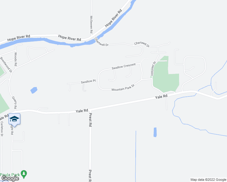 map of restaurants, bars, coffee shops, grocery stores, and more near 47410 Mountain Park Drive in Chilliwack