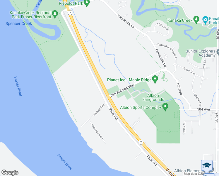 map of restaurants, bars, coffee shops, grocery stores, and more near 23403 Lougheed Highway in Maple Ridge