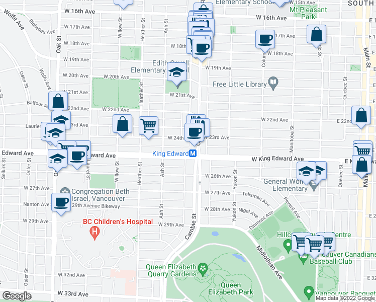 Map Of Restaurants Bars Coffee Shops Grocery Stores And More Near 563
