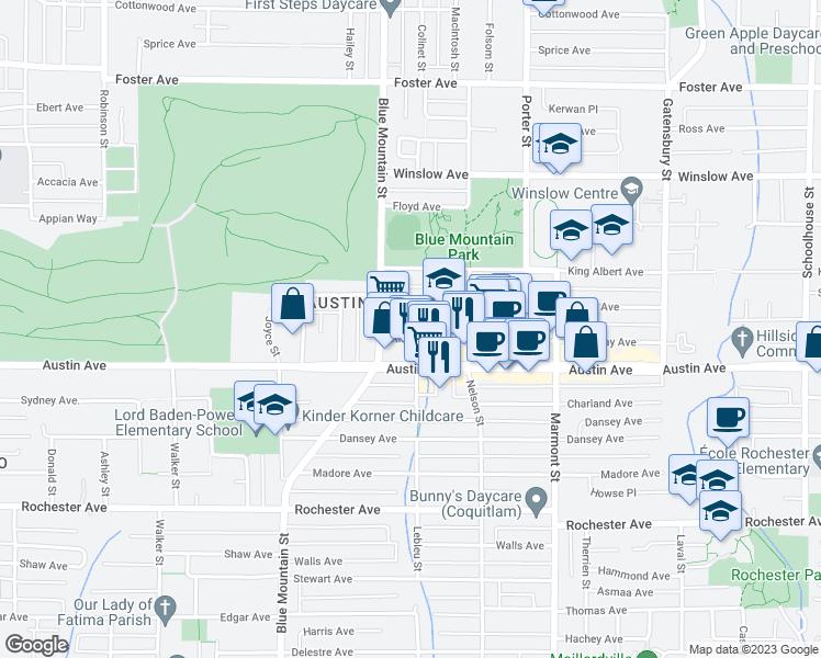 1001 Ridgeway Avenue, Coquitlam BC - Walk Score