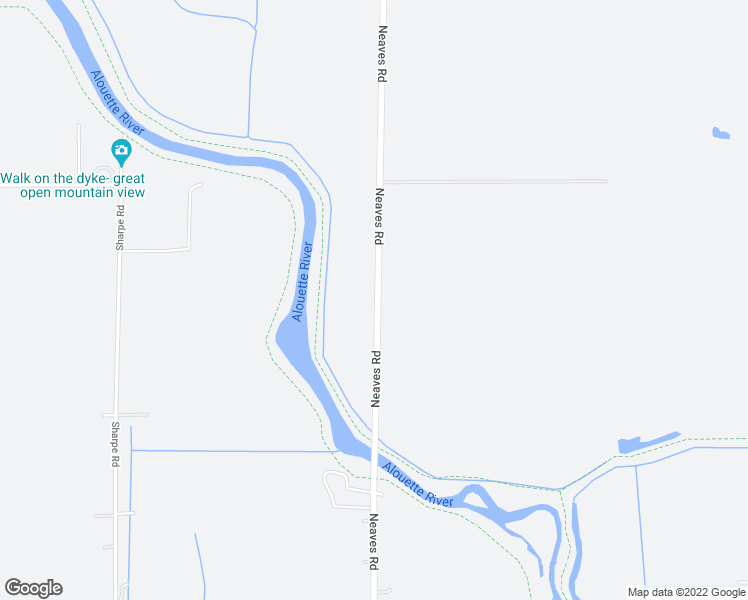 map of restaurants, bars, coffee shops, grocery stores, and more near 13807 Neaves Road in Pitt Meadows
