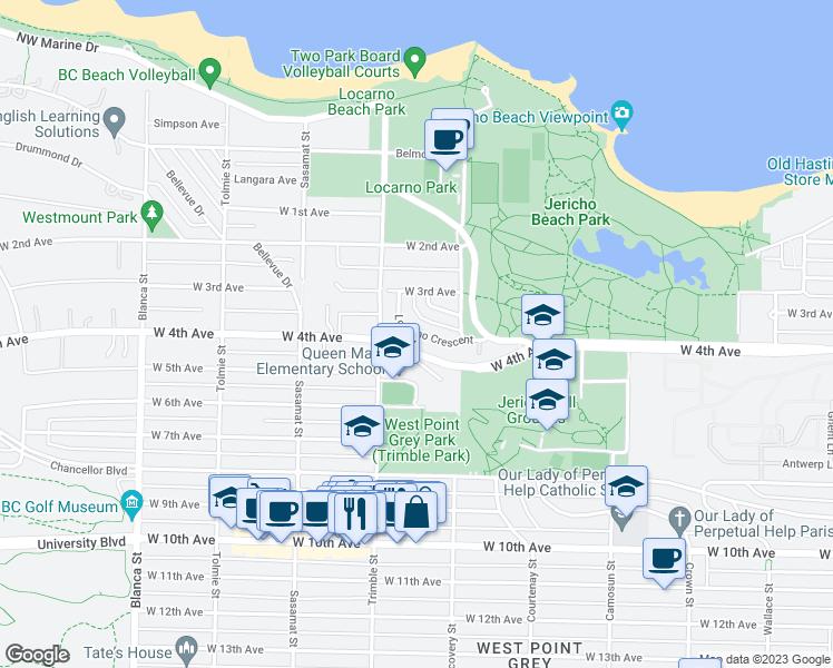 4346 Locarno Crescent, Vancouver BC - Walk Score