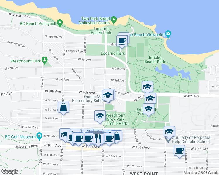 4374 Locarno Crescent, Vancouver BC - Walk Score