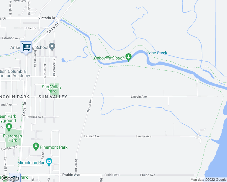 map of restaurants, bars, coffee shops, grocery stores, and more near 3645 Lincoln Avenue in Coquitlam