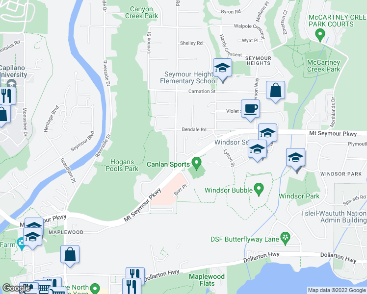 map of restaurants, bars, coffee shops, grocery stores, and more near 928 Berkley Road in North Vancouver