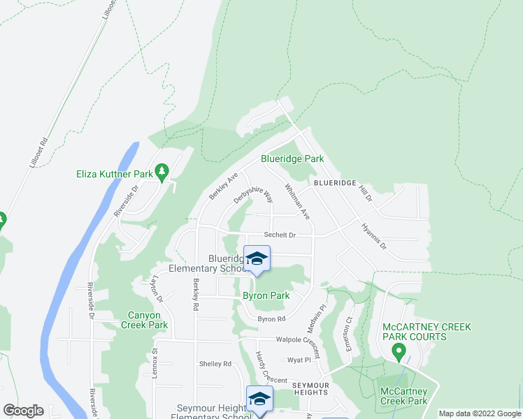 map of restaurants, bars, coffee shops, grocery stores, and more near 2638 Cactus Court in North Vancouver