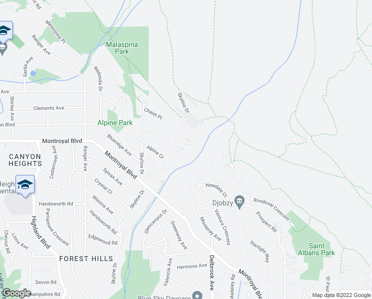map of restaurants, bars, coffee shops, grocery stores, and more near 4877 Skyline Drive in North Vancouver