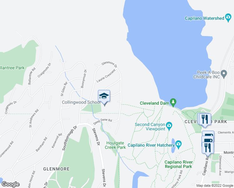 map of restaurants, bars, coffee shops, grocery stores, and more near 62 Morven Drive in West Vancouver