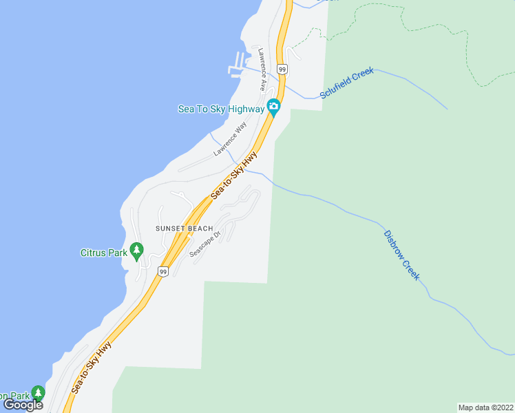 map of restaurants, bars, coffee shops, grocery stores, and more near 8676 Seascape Drive in West Vancouver