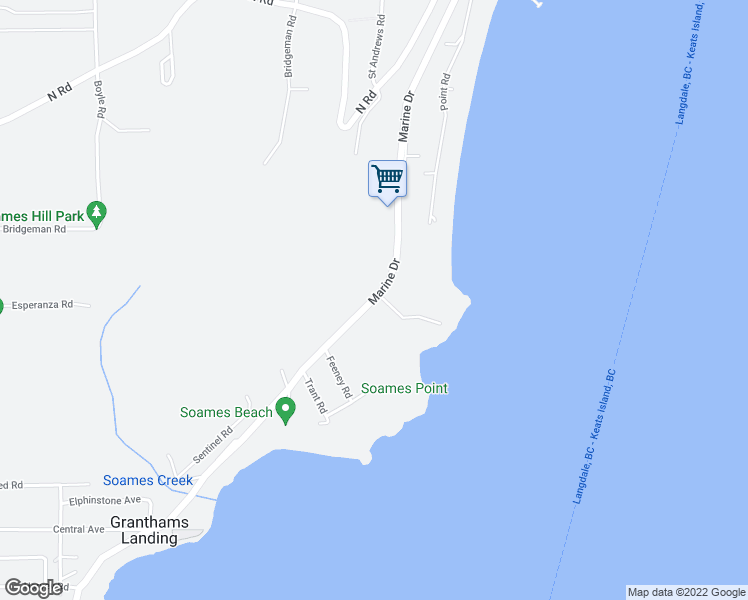 map of restaurants, bars, coffee shops, grocery stores, and more near 1000 Marine Drive in Gibsons