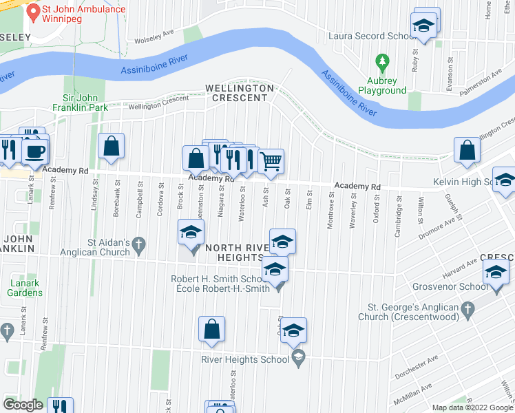 Map Of Restaurants Bars Coffee Shops Grocery Stores And More Near 181