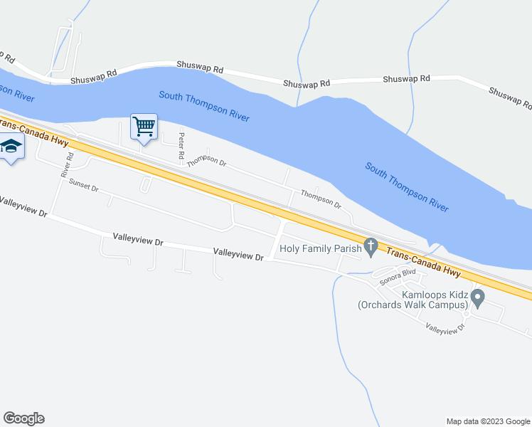 Map Of Canada Showing Kamloops.4796 Trans Canada Highway East Frontage Road Kamloops Bc Walk Score