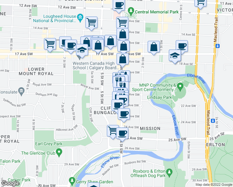 map of restaurants bars coffee shops grocery stores and more near 510