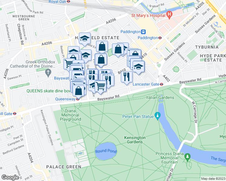 Map Of England Lancaster.80 Lancaster Gate Greater London England Walk Score