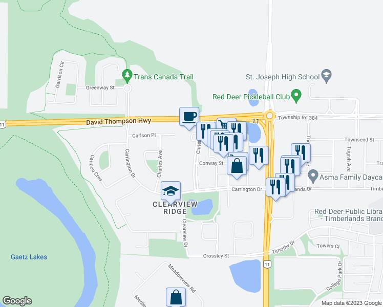 30 Carleton Avenue, Red Deer AB - Walk Score