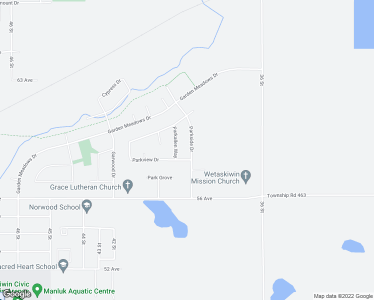 map of restaurants, bars, coffee shops, grocery stores, and more near 54511 Range Road 204 in Fort Saskatchewan